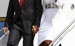 Barack et Michelle Obama, à leur arrivée à Caen, le 6 juin 2009.