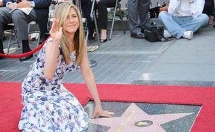 Jennifer Aniston reçoit son étoile sur Hollywood Boulevard le 22 février 2012.
