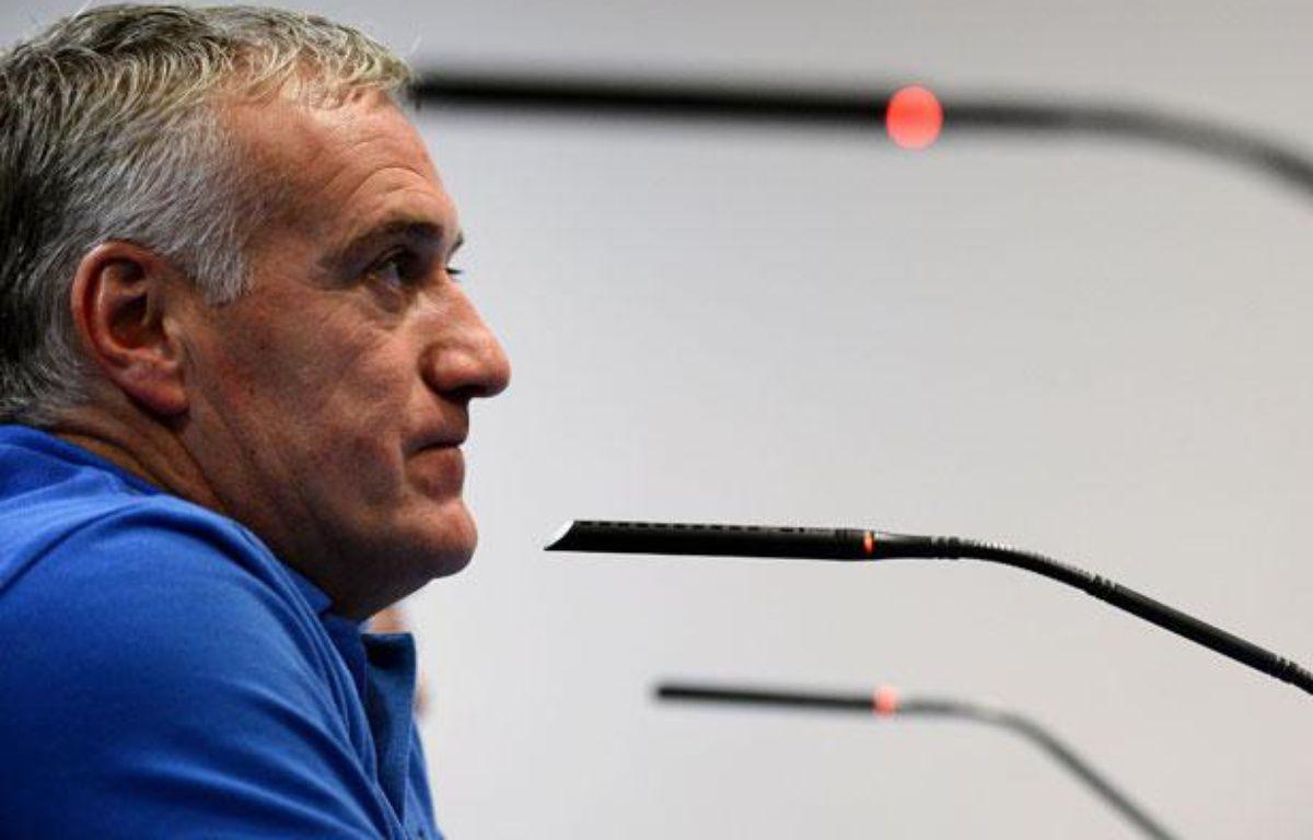 Didier Deschamps, le sélectionneur de l'équipe de France, le 15 octobre 2012, à Madrid. – F.FIFE/AFP