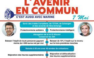 Capture écran du tract du Front national
