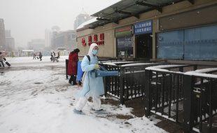 Une opération de désinfection à Pékin, le 6 février 2020. (illustration)