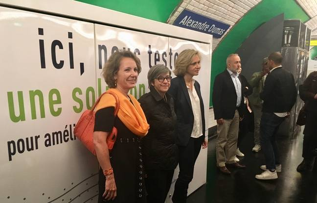 La présidente de la région Ile-de-France Valérie Pécresse (à droite) a présenté le dispositif en compagnie de la présidente de la RATP et de la directrice adjointe de Suez.