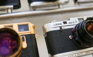 Des appareils photo Leica vendus aux enchères par la maison Christie's en août 2016.