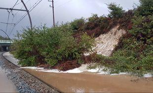 Les fortes précipitations ont entraîné des glissements de terrain.