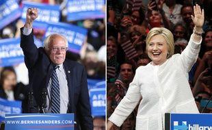 Bernie Sanders et Hillary Clinton, le 7 juin 2016.