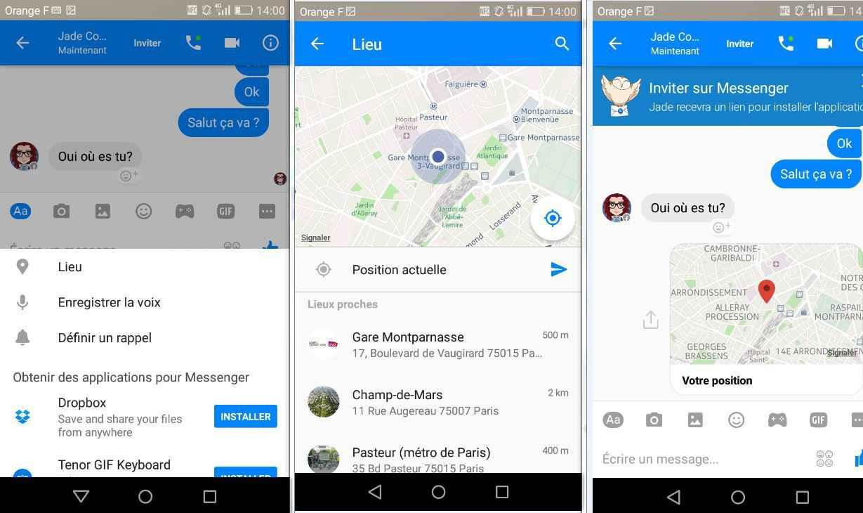 Facebook messenger vous permet d sormais de g olocaliser for Se geolocaliser
