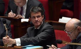 Manuel Valls et Jean-Marie Le Guen à l'Assemblée Nationale à Paris le 15 novembre 2016