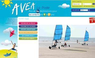 Capture d'écran du site http://www.avea-vacances.fr/ 29 octobre 2015.