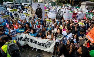 Manifestation pour défendre les «dreamers» à New York, le 30 août 2017.