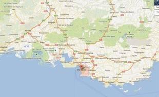 Google map de Marseille réalisée le 22 novembre 2012.