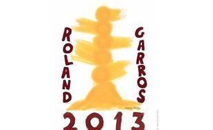 L'affiche du tournoi de Roland-Garros 2013.