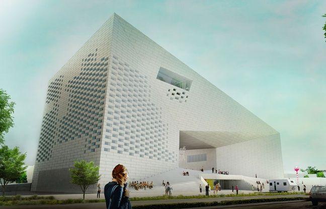 Le bâtiment de la MECA, Maison de l'économie créative et de la culture en Aquitaine