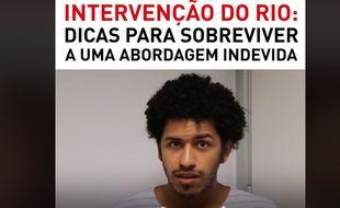 Capture d'écran de la vidéo publiée le 18 février par trois jeunes donnant leurs conseils pour survivre au Brésil en tant que Noir.