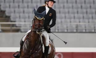 Annika Schleu et son cheval