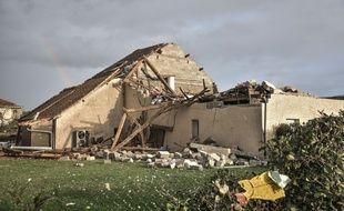 Le village de Serres-Sainte-Marie dans le Bearn a été violemment touché par la tempête Fabien le 21 décembre 2019.