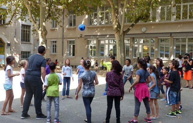 Lyon, le 5 septembre 2014. Reportage à l'ecole Paul Painlevé à l'occasion de la mise en place des activités périscolaires. C. Girardon / 20 Minutes