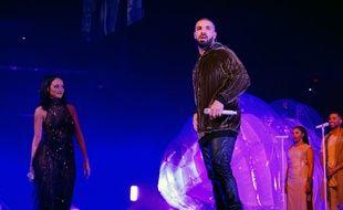 Les chanteurs Rihanna et Drake lors du Anti World Tour à Miami le 15 mars 2016