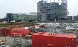 Parlement européen à Strasbourg le 07 février 2018