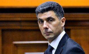 Le Français Stéphane Bridé, ici à Chisinau le 11 février 2015, est devenu en début d'année ministre de l'Economie et vice-Premier ministre de la Moldavie