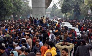 Des milliers d'Indiens ont manifesté, le 16 décembre 2019, à New Delhi contre la loi sur la citoyenneté.