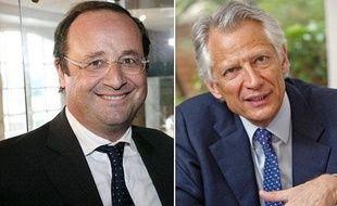François Hollande et Dominique de Villepin.