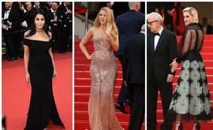 Leila Bekhti en Alexandre Vauthier, Blake Lively en Atelier Versace et Kristen Stewart en Chanel ce mercredi lors de la montée des marches à Cannes.