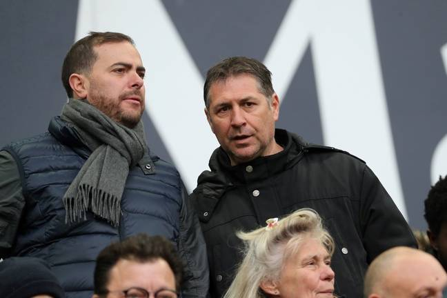 Bruno Fievet (à droite), l'un des candidats au rachat des Girondins.