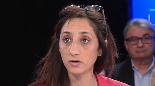 Anissa Khedher lors de son intervention ratée sur le plateau de télévision  – Capture d'écran
