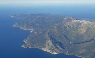 Le Cap Corse vu du ciel, en février 2019.
