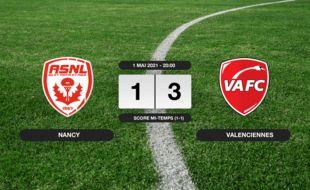 Ligue 2, 36ème journée: 1-3 pour le VAFC contre Nancy au stade Marcel-Picot