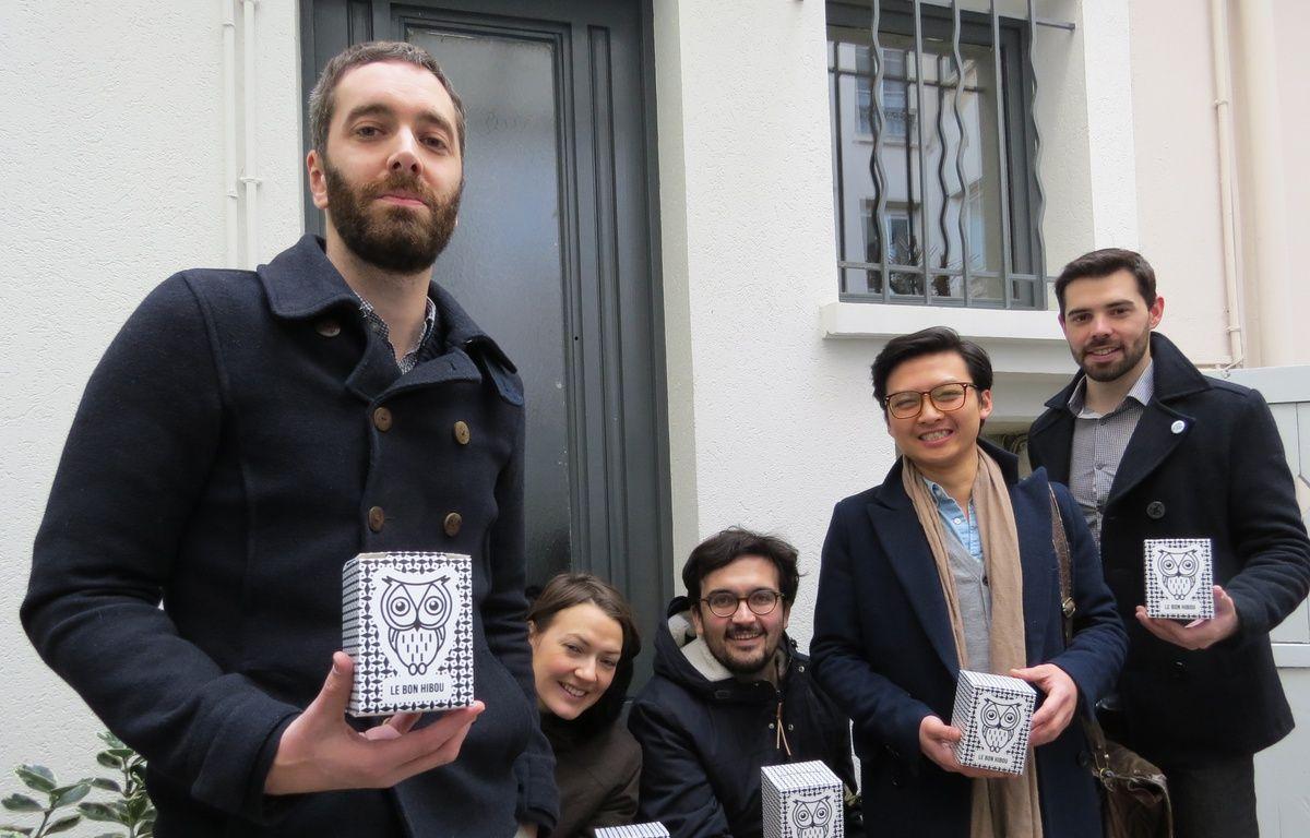 L'équipe de l'association Le Bon Hibou. A gauche, le président, Benjamin Trécherel. – R.LESCURIEUX