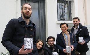 L'équipe de l'association Le Bon Hibou. A gauche, le président, Benjamin Trécherel.