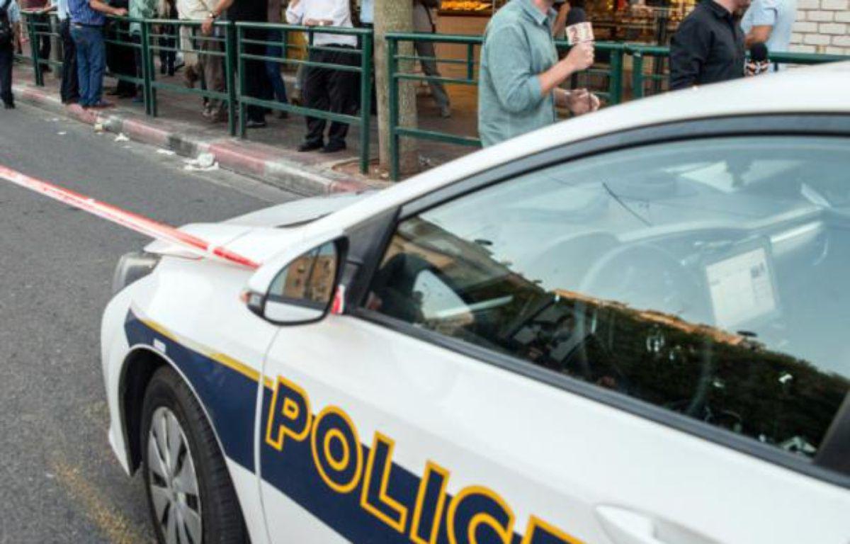 Une voiture de police à Tel-Aviv. – JACK GUEZ AFP