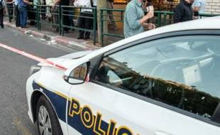 Une voiture de police à Tel-Aviv.