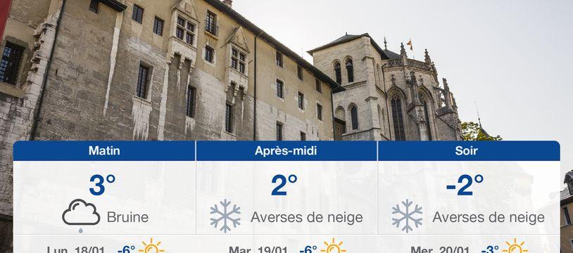 Météo Chambéry: Prévisions du dimanche 17 janvier 2021