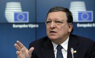 Le président sortant de la Commission européenne, Jose Manuel Barroso lors d'une conférence de presse au Conseil européen le 23 octobre 2014