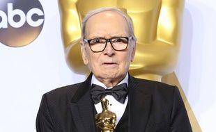 Le compositeur Ennio Morricone lors de la 88e cérémonie des Oscars