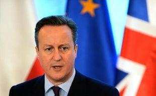 Le Premier ministre britannique, David Cameron, le 5 février 2016 à Varsovie