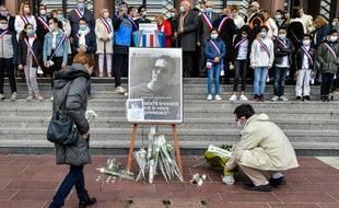 Hommage au professeur assassiné, le 19 octobre 2020 à Poissy.