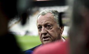 Jean-Michel Aulas, le président de l'Olympique Lyonnais, en avril 2018.
