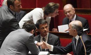 Le Premier ministre Manuel Valls le 9 juin 2015 à l'Assemblée nationale à Paris