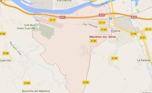 Carte de Mézières-sur-Seine
