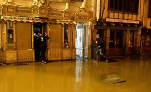 Des inondations à Morlaix (Finistère). Image d'illustration