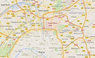 Aubervilliers, en Seine-Saint-Denis.