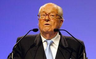 Jean-Marie Le Pen lors de son discours à Marseille, le 20 mai 2014.