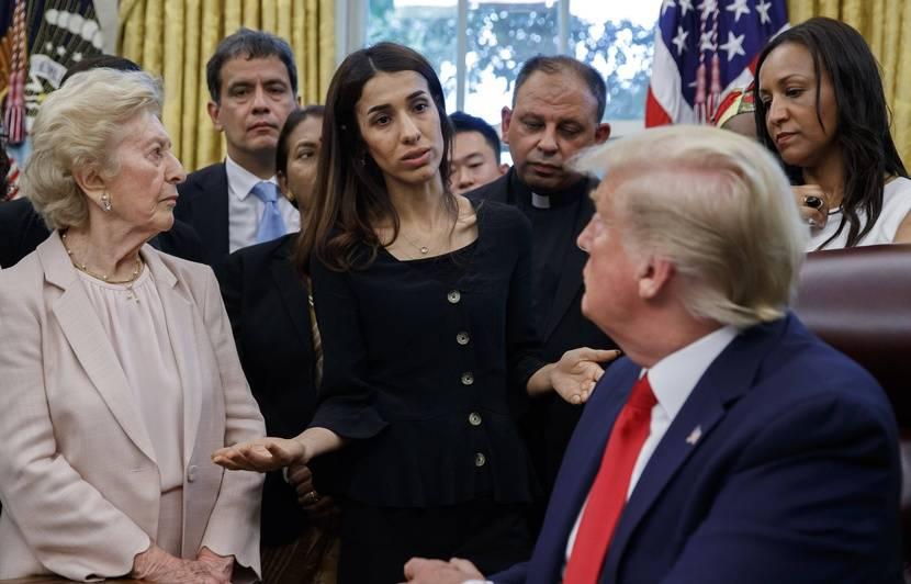 Etats-Unis: «C'est les Kurdes et qui?»... Trump pas au point lors de sa rencontre avec la Yazidie Nadia Murad