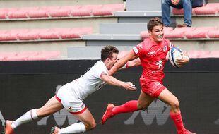 Antoine Dupont, une nouvelle fois excellent avec le Stade Toulousain ce dimanche contre les Irlandais de l'Ulster en quart de finale de Champions Cup.