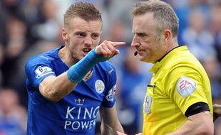 Jamie Vardy a été expulsé lors de Leicester-West Ham (2-2) le 17 avril 2016.