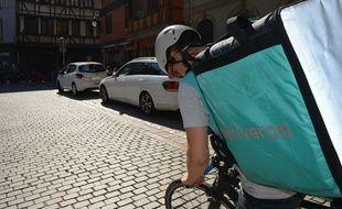 Un livreur Deliveroo à Strasbourg (illustration).