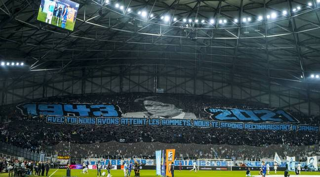 """Two magnificent tifos and a victory, """"beautiful evening"""" for the last tribute to Bernard Tapie"""